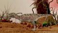 Dinosaur. Prehistoric Jungle, landscape, valley 27780508