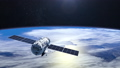 Flying satellite. The satellite flies away. FullHD 27793455
