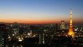 東京風景時間流逝富士山和東京鐵塔魔術小時Tasogare擊敗大城市街景FIX 27893416