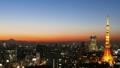 東京風景時間流逝東京塔和富士山魔術小時暮光之城跳動大城市麵包的心臟 27893418