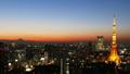 東京風景時間流逝東京塔和富士山魔術時間暮光之城擊敗大城市傾斜的城市景觀 27893419