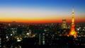 東京風景時間流逝東京塔和富士山魔術小時大城市都市街景評分 27893422