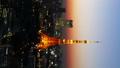 垂直材料東京Timelapse東京塔魔法小鎮一個大城市的風景 27893423