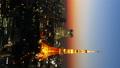 垂直材料東京遊戲中時光倒流富士山和東京塔魔術時間鎮風景城潘 27893427