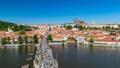 Prague city skyline time lapse, Czech Republic 27968863
