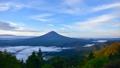 河口湖畔と富士山の夜明け 27983174
