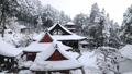 1月 積雪の長命(ちょうめい)寺 近江の冬景色 28069167