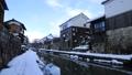 1月 雪の八幡掘 近江の雪景色 28069168