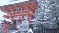 1月冬 雪の伏見稲荷大社楼門 京都の雪景色 28069176