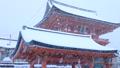 1月冬 雪の伏見稲荷大社楼門 京都の雪景色 28069177