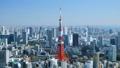 東京タイムラプス 昼景 六本木から望む 東京タワー 都心全景 臨海副都心を望む ズームイン 28108651