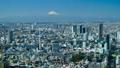 東京タイムラプス 昼 港区から望む 富士山 渋谷中心街 恵比寿 中目黒 快晴 パン 28112674
