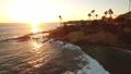 ラグナビーチ 夕暮れ 空撮 26 カリフォルニア 海岸線 28218123