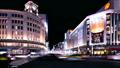 東京タイムラプス 夜景 銀座 4丁目 和光前 大混雑 行き交う人々 賑やかな街並 ティルトアップ 28230763