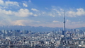 東京タイムラプス 東京都心街並全景 東京スカイツリー 富士山に流れる雲 ズームアウト 28239461