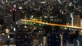 【タイムラプス】高所から眺める首都高速6号線と周辺景色 28382052