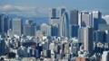 東京タイムラプス 新宿 摩天楼 高層ビル群と新宿駅東口繁華街 背景富士山山頂少し見えます ティルト 28518674