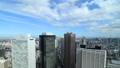 メガポリス東京 新宿高層ビル 大都市の青空に雲が流れる タイムラプス ズームアウト 28690287