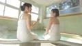 동영상 소재 여성 여자 여행 둘이서 여행 온천 여관 원천 옥내 욕실 28696190