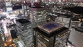 メガポリス東京 ライトアップする新宿高層ビル街 俯瞰 タイムラプス ズームアウト 28781107