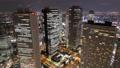 メガポリス東京 ライトアップする新宿高層ビル街 タイムラプス フィックス 28781351