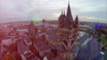 Cologne aerial, fly over Rathaus German City Counc 28831835