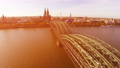 Cologne famous bridge aerial, German city Koln sig 28831839