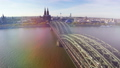German city Koln Cologne, aerial famous landmarks  28831840