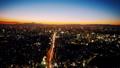 東京タイムラプス ワイドで望む富士山に沈む夕日と渋谷中心街 夕景から夜景 長時間撮影 グレーディング 28906662