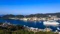 鍋冠山 客船の入港と長崎市街地を望む 29015091