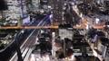 メガポリス東京 躍動する大都会の夜 浜松町、芝浦、東京湾 タイムラプス ズームアウト 29073027