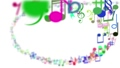 Abstract background with colorful musical notes 29086978