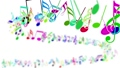 Abstract background with colorful musical notes 29086992