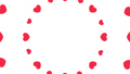 花火や波紋のように広がるハート 円形 ピンク・赤色 背景透過・アルファチャンネル付き 29310633