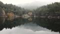 Misty mountain lake footage 29361189