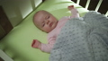 Top Side View of Sleeping newborn baby dolly shot 29415212