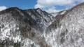 冬の北海道の山並み(空撮 移動撮影) 29428317