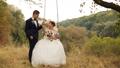 Groom is swinging his beautiful bride in white 29444630