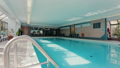 Indoor pool in the partment building. Dolly shot 29531082