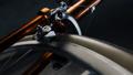 Spinning wheel of lying retro bicycle. Loop  29878703