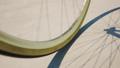 Road bike wheel on concrete road. Loop animation 29878707