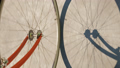 Road bike wheel on concrete road. Loop animation 29878710