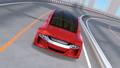 高速道路に走行している赤色の自動運転車 29954392