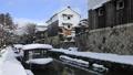 1月 雪の八幡掘 近江の雪景色 30114744