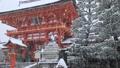 1月冬 雪の伏見稲荷大社楼門 京都の雪景色 30114747
