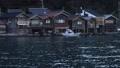 12月 夜明けの伊根の舟屋 30114750
