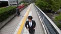 跑的商人新宿商业街高角度俯视胳膊万向节移动射击 30238594