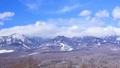 Yatsugatake mountain peak in winter time lapse Nagano Prefecture Nanamaki village Nobeyama from Hirasawa Pass Observatory 30263467