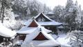 1月 積雪の長命(ちょうめい)寺 近江の冬景色 30521426
