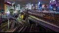 東京タイムラプス 池袋駅夜景 ズームアウト 30630081